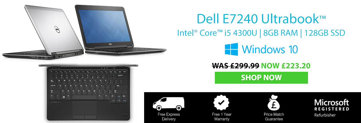 Refurbished Laptop Dell Latitude E7240